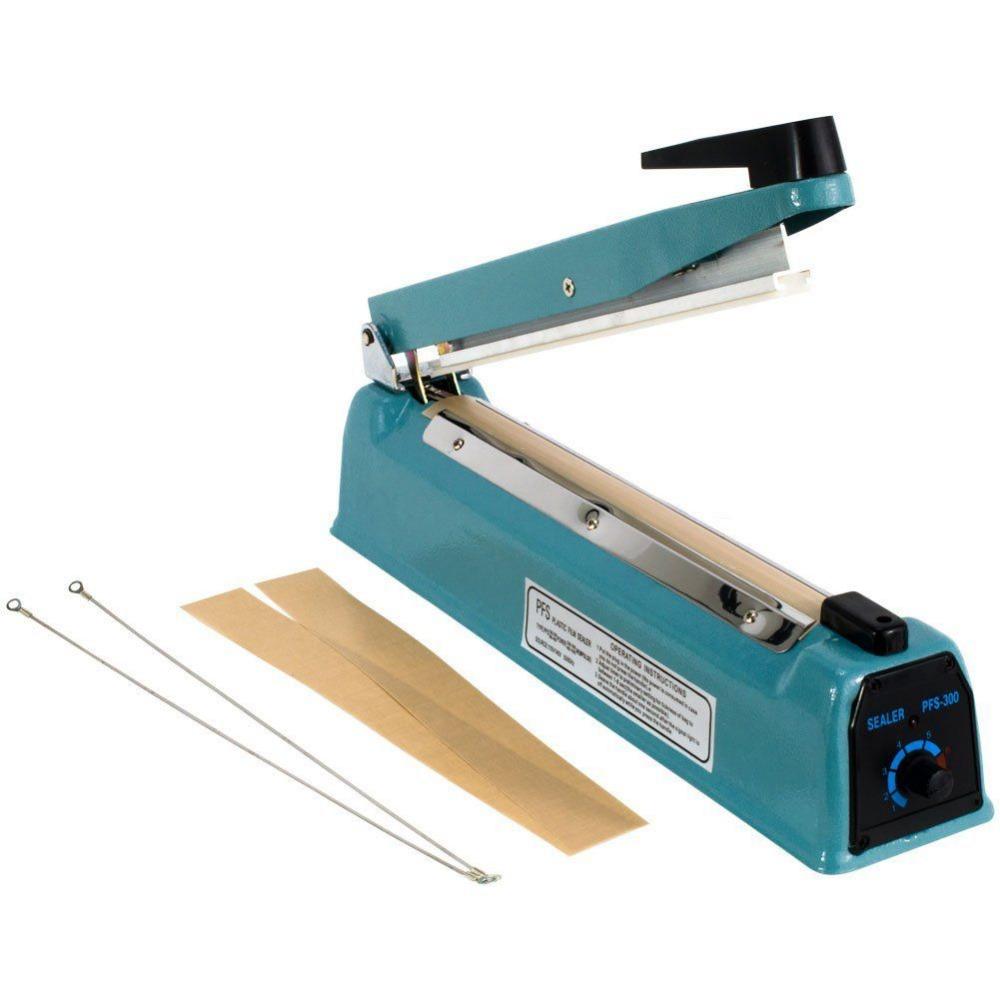 """Good quality matel 12"""" /300mm Sealing Length Sealing Heat Sealer Machine Heat Sealing Hand Impulse Sealer -50(China (Mainland))"""