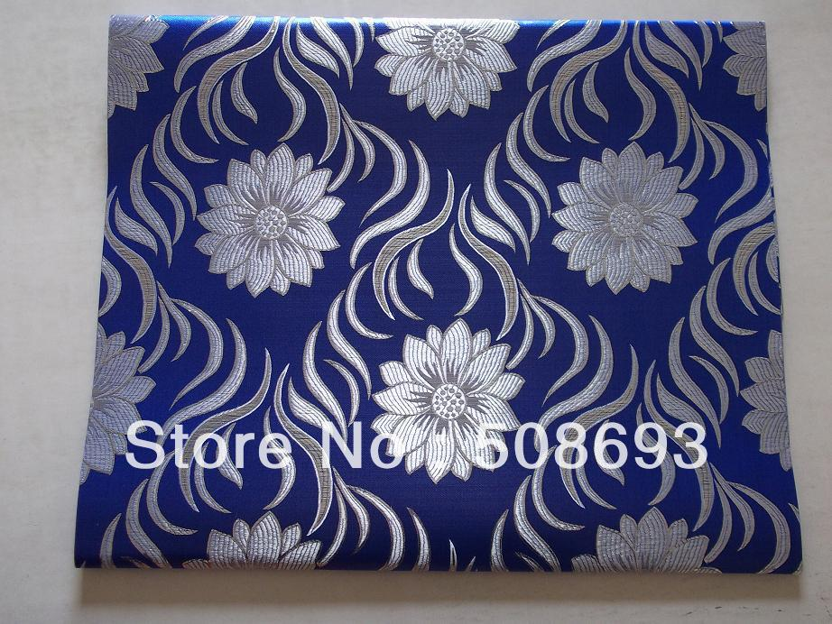 free shipping african headtie,2 in 1 sego headtie,Royal blue+silver sego with latest design,high quality best price wholesale(China (Mainland))