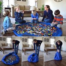 Портативный Детские Игрушки Сумка Для Хранения и Играть Мат Lego Игрушки Организатор Бен Box XL Мода Практические Мешки Для Хранения