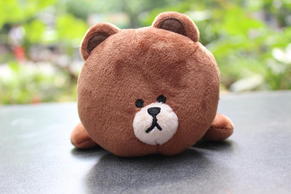 Free shipping Hot selling latest style LINE USBROWN BEAR plush toys pen bag litter caddie Dolls Kids Games Products girls gift(China (Mainland))