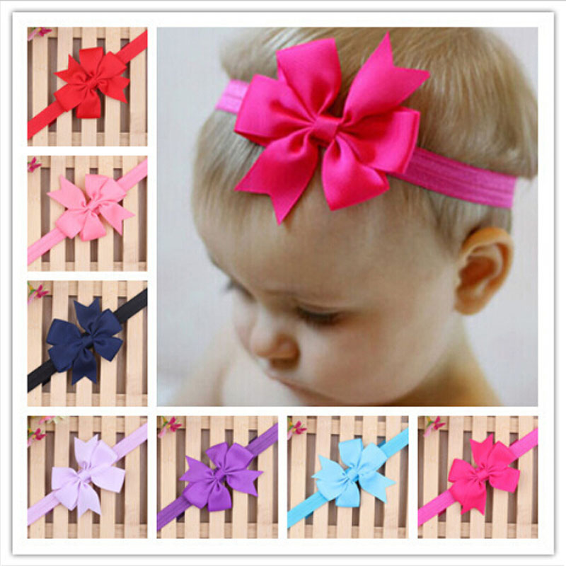 2016 Brand New Baby Bow Headband Hair Bowknot Headbands Girls Bow Headband Toddler Headwear Infant Hair
