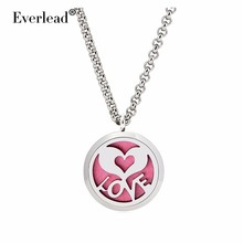 Round Locket Aromatherapy locket Pendant necklace Round Perfume Heart hape LOVE locket pendants women party Thanksgiving gifts(China (Mainland))