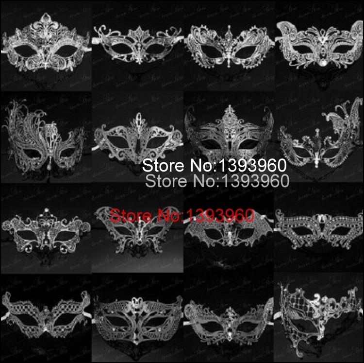 28 style Silver sexy masquerade masks venice mask halloween laser cut mask party maschere veneziane halloween costume for lady(China (Mainland))