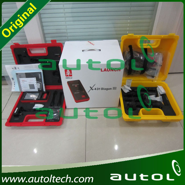 LAUNCH Auto Scan Tool X431 Diagun III With Red And Yellow Box Free Shipping(China (Mainland))