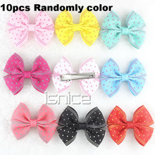 10pcs Candy Color 2 inch Flower Hair Bow Rubber Band Elastic Hair Bands Girl Tie Gum hair accessories women Headwear hair clip(China (Mainland))