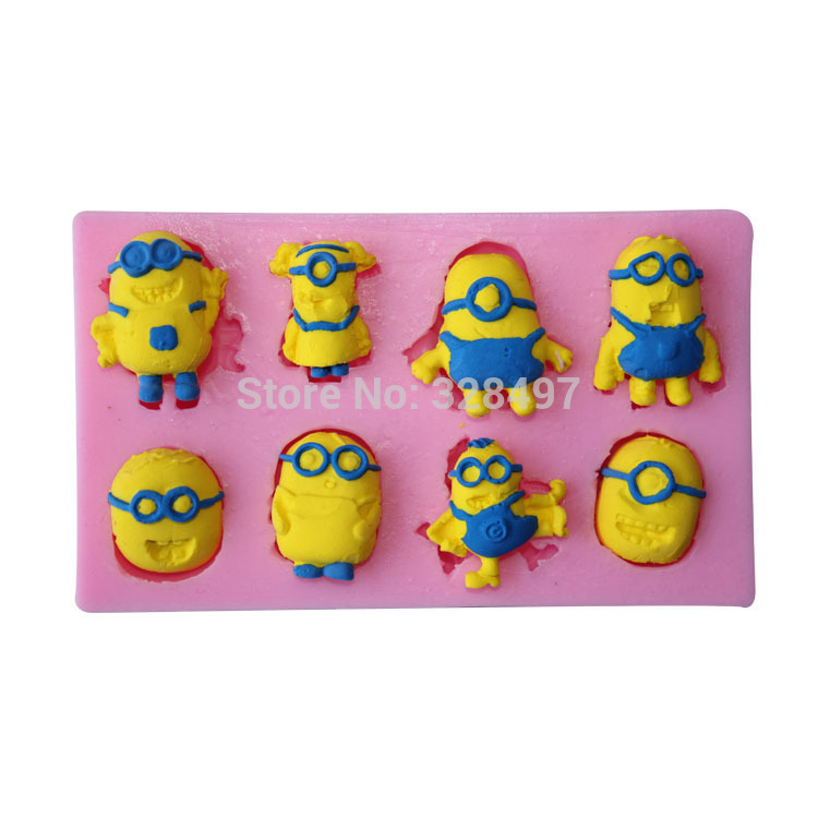 3D Silicone Cake Mold Fondant Mold, Jelly,Candy, Chocolate soap Decorating Bakeware Yellow Boy Shape C071 - W&M-3 store