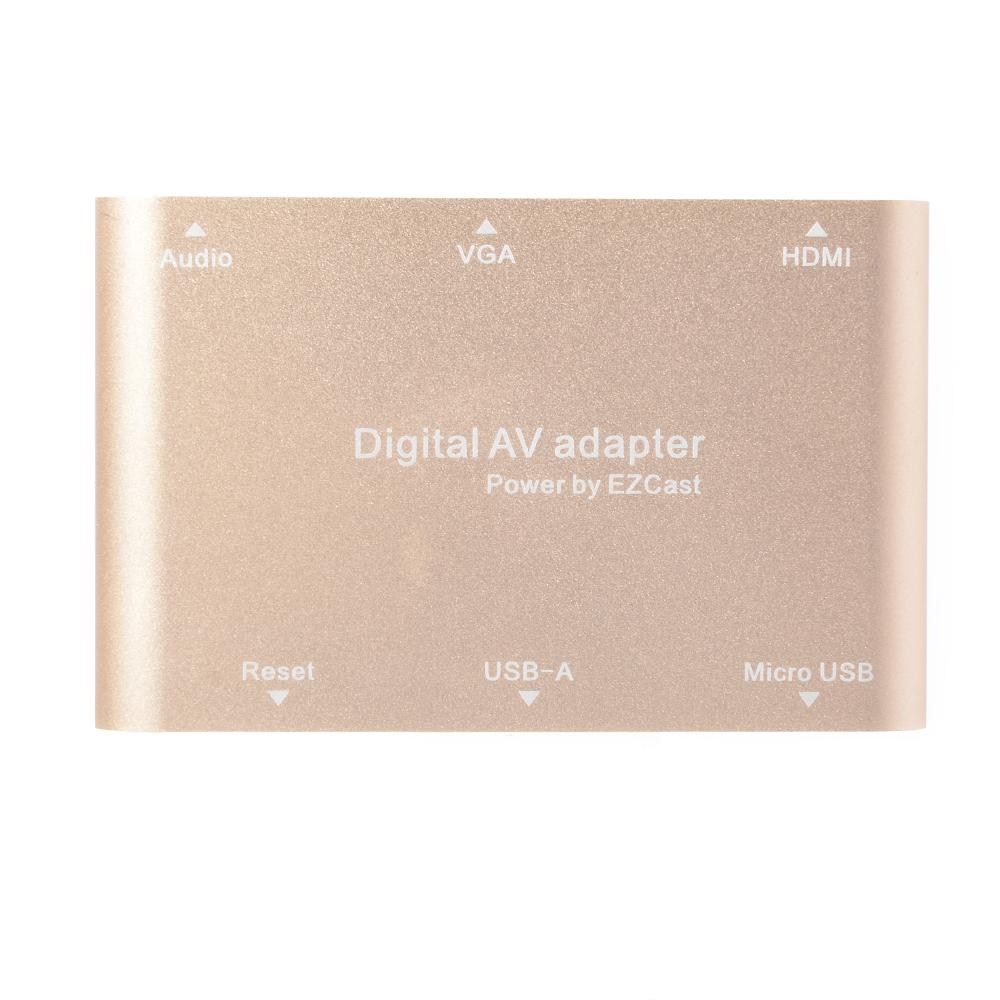 Digital AV Adapter Converter USB to HDMI VGA Audio Power by EZCast for iOS AH172/AH173(China (Mainland))