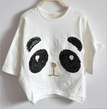 Lovely Clothing Kids Toddlers  Girls Batwing-sleeved T-Shirts&Tops Ages3-10Y(China (Mainland))