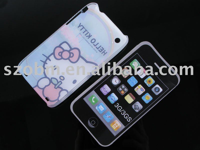 consumer electronics/phone case/Red Hello Kitty Protection Shell for iPhone 3G / 3GS/free shipping(China (Mainland))