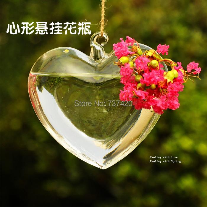 Heart shape vase Mxmade transparent glass vase love vase hydroponic home decoration accessories water planters flower vase(China (Mainland))