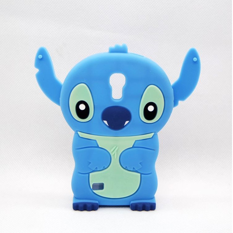 Hot 3D Cute Cartoon Pink&Blue Stitch Soft Silicone Skin Cases SAMSUNG GALAXY S4 MINI I9190 Covers Drop Shipping - All the Best Things store