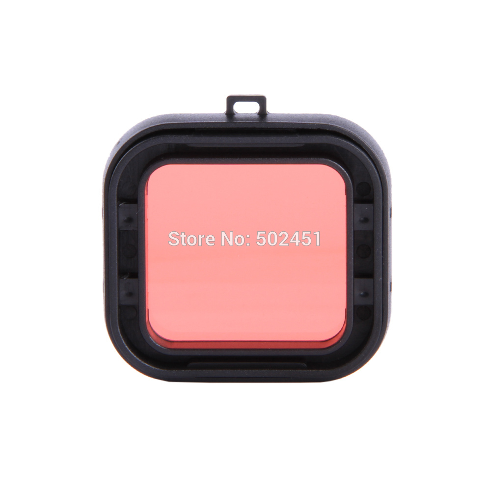 Glass Filter Red For Gopro Hero 3+ Slim Frame Snap On Waterproof Housing Dive Filter(China (Mainland))
