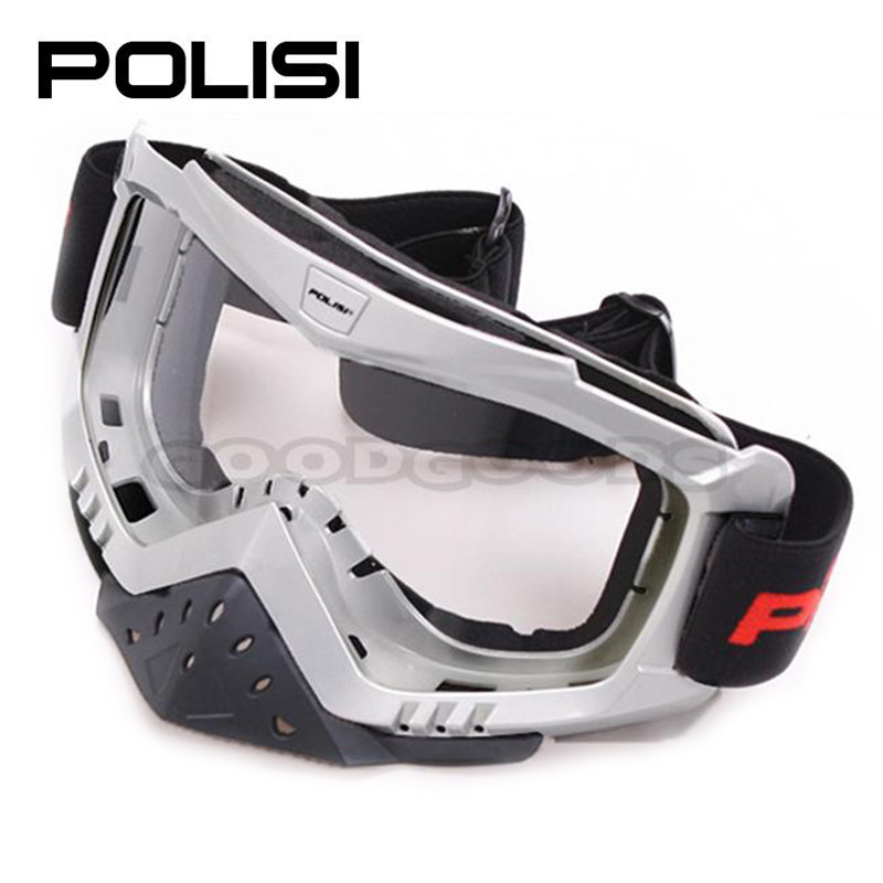 2015 NEW POLISI Motocross Off Road Outdoor Sports Glasses Snowboard Snowmobile Motorcycle Ski Windproof Goggles Clear Lens(China (Mainland))