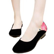 New 2016 Women Wedge Heels Shoes Platform Work Single Shoes Casual Ladies Old beijing Pumps Women
