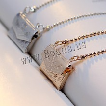 2017 New Women High Quality Hot Sale Gold Silver Vintage Locket Necklace Long Ball Chain Necklace Handbags Design free shipping(China (Mainland))