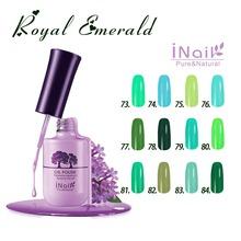 Free shipping! Royal Emerald Series! 12 pcs Inail Gel Nail Polish 15ml 12 colors for choice.
