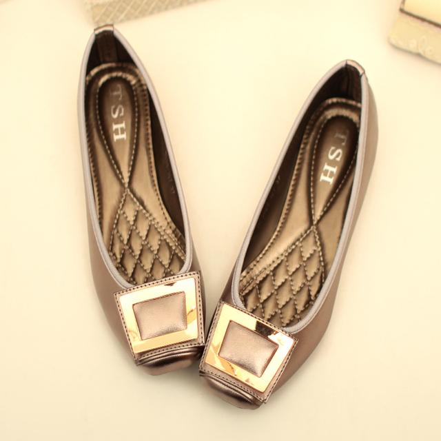 Элегантные площади металлические украшения квартиры для женщин-квартир обувь свободного ...