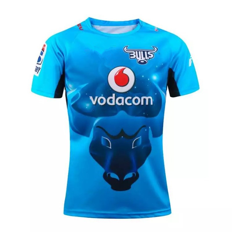 Free shipping 2016-17 South Africa Area New Zealand super Rugby South Africa bulls rugby jersey(China (Mainland))
