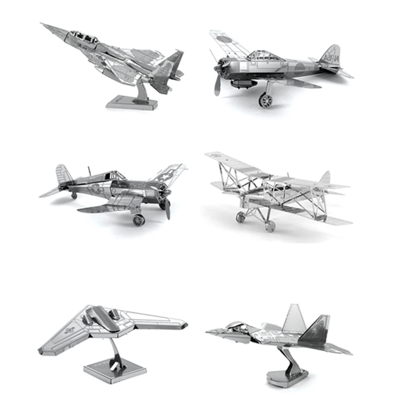 Hot Sale 3D DIY Metal Puzzle Toy Aircraft Model For Child/Adult Air Force Equipment Weapons Model Best Christmas Gift Kids Toys(China (Mainland))