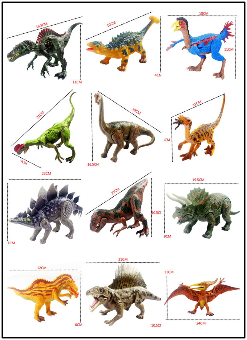 Toy Names A Z : Pcs set jurassic world godzilla dinosaur play