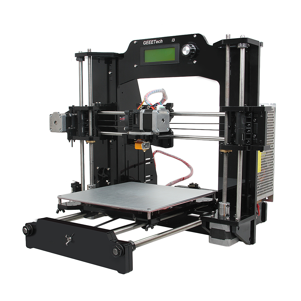 6 Material Support Geeetech 2016 Upgraded Quality High Precision Reprap Prusa i3 X 3D Printer Diy