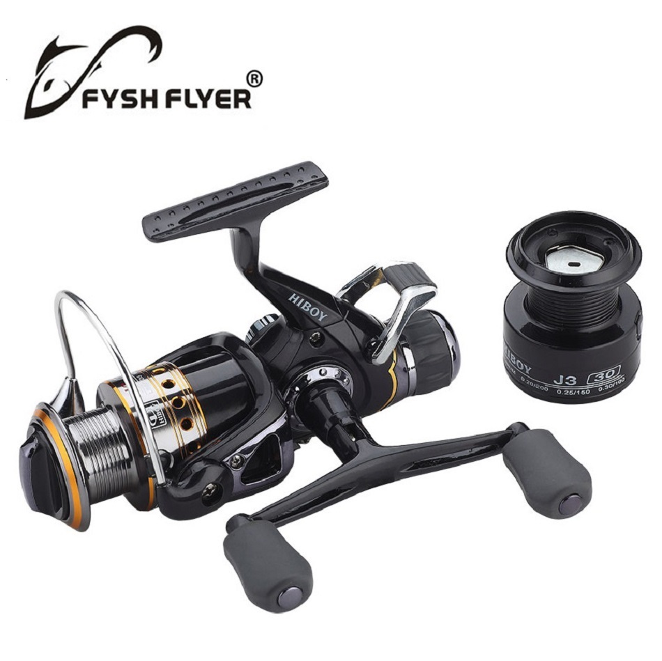 Carp Spinning Fishing Reels, Left/Right Handle Metal Spool, 9+1BB, Stainless steel Shaft, Rear Drag Wheel, 1 Spare Plastic Spool(China (Mainland))