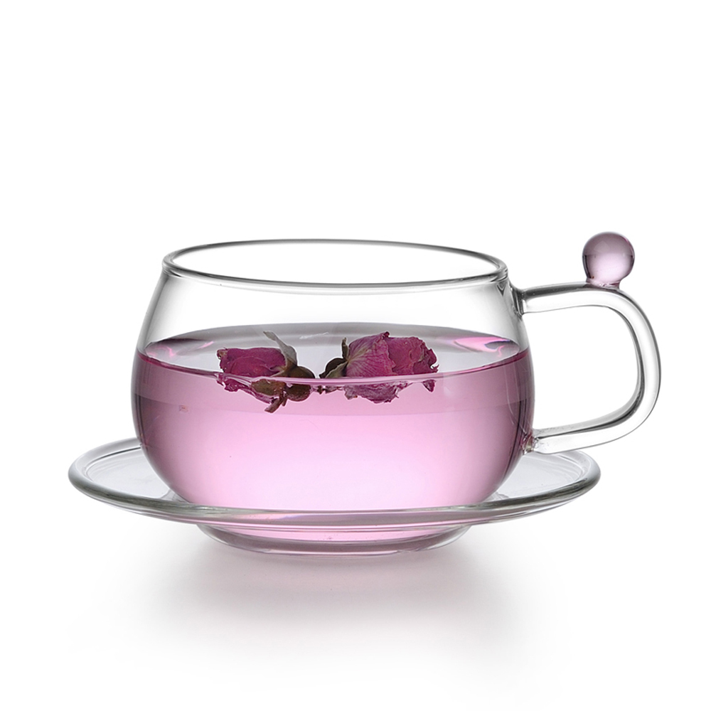 Clear Glass Cup And Saucer