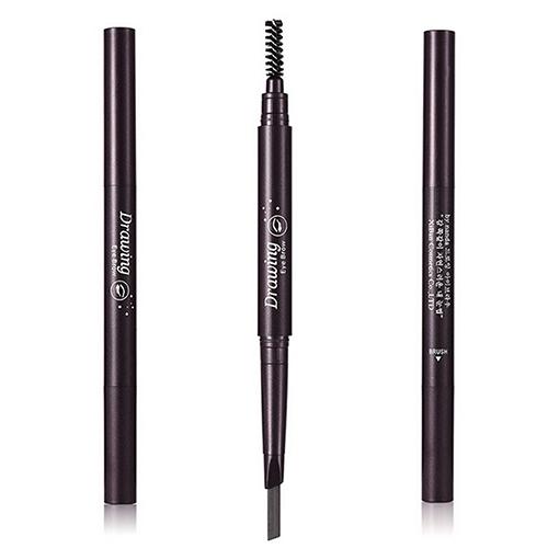 Duplo lápis de sobrancelha escova de sobrancelha impermeável caneta delineador cosméticos