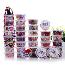Children Diy Beads Set Educational Toys Necklace Bracelet  Crystal Beads Jewelry Girl's Present(China (Mainland))