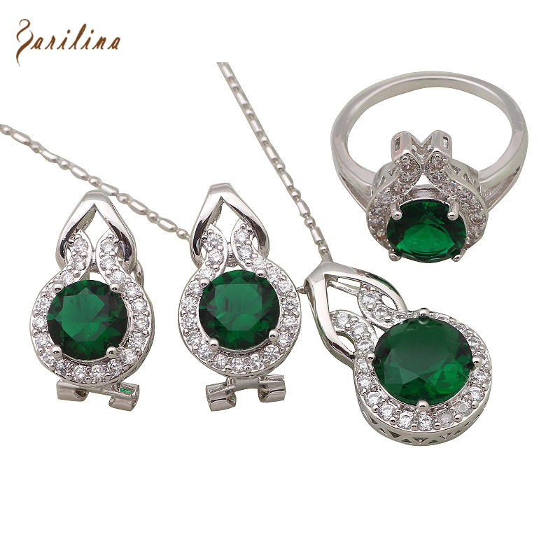 aliexpress buy fashion jewelry sets green cubic