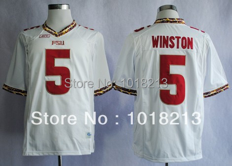 cheap college football jersey florida State Seminoles (FSU) Jameis Winston 5 red/white/black stitched football shirt(China (Mainland))