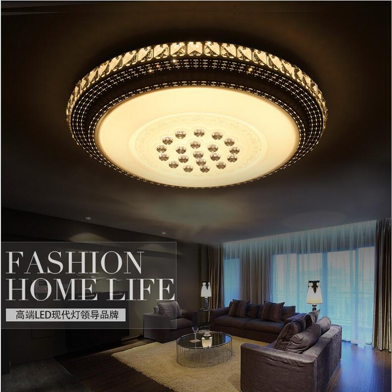 Фотография Modern Led Ceiling Light Crystal Flush Mounted Metal Acrylic Led Light for Living Bed Room Office  Light
