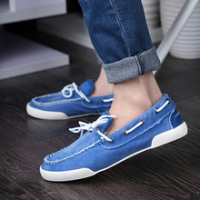 Denim Shoes 2016 New Arrival Men's Fashion Breathable Casual Comfortable Lace-up Shoes Spring Summer Wear Men Seankers XMF265(China (Mainland))