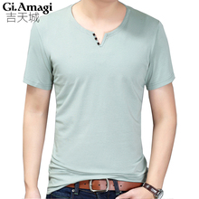 Buy HOT SELL 2017 New Fashion Brand Men Clothes Solid Color Short Sleeve Slim Fit T Shirt Men Cotton T-Shirt Casual T Shirts 3XL for $16.40 in AliExpress store