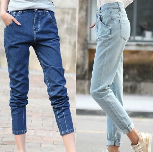 [해외]European style womens jeans retro collapse was thin ..