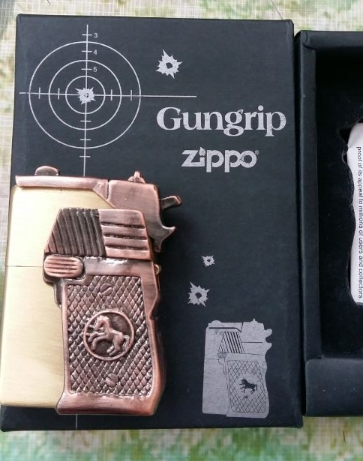 wholesale brang zip high quality copper Gungrip kerosene Authentic brass lighter(China (Mainland))