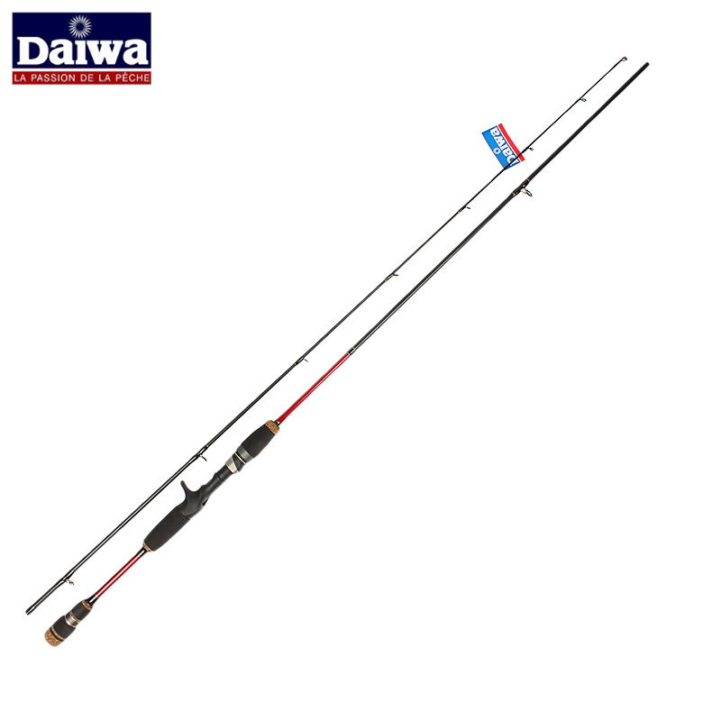 Red daiwa spinning fishing rod carbon fiber 2 4m power m for Red fishing rod
