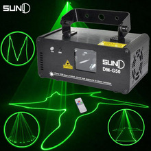 SUNY Remote 50mw Green Laser Projector Professional Stage Lighting Effect DMX 512 Scanner DJ Disco Party Show Lights(China (Mainland))