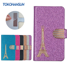 Buy myPhone Fun 5 Case Luxury Bling Flip Wallet Effiel Tower Diamond 2017 New Hot PULeather cover TOKOHANSUN Brand for $4.19 in AliExpress store