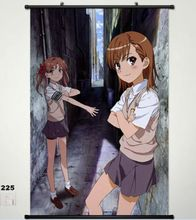 Home Decor Wall Scroll Poster A Certain Scientific Railgun Misaka Mikoto Cos 225