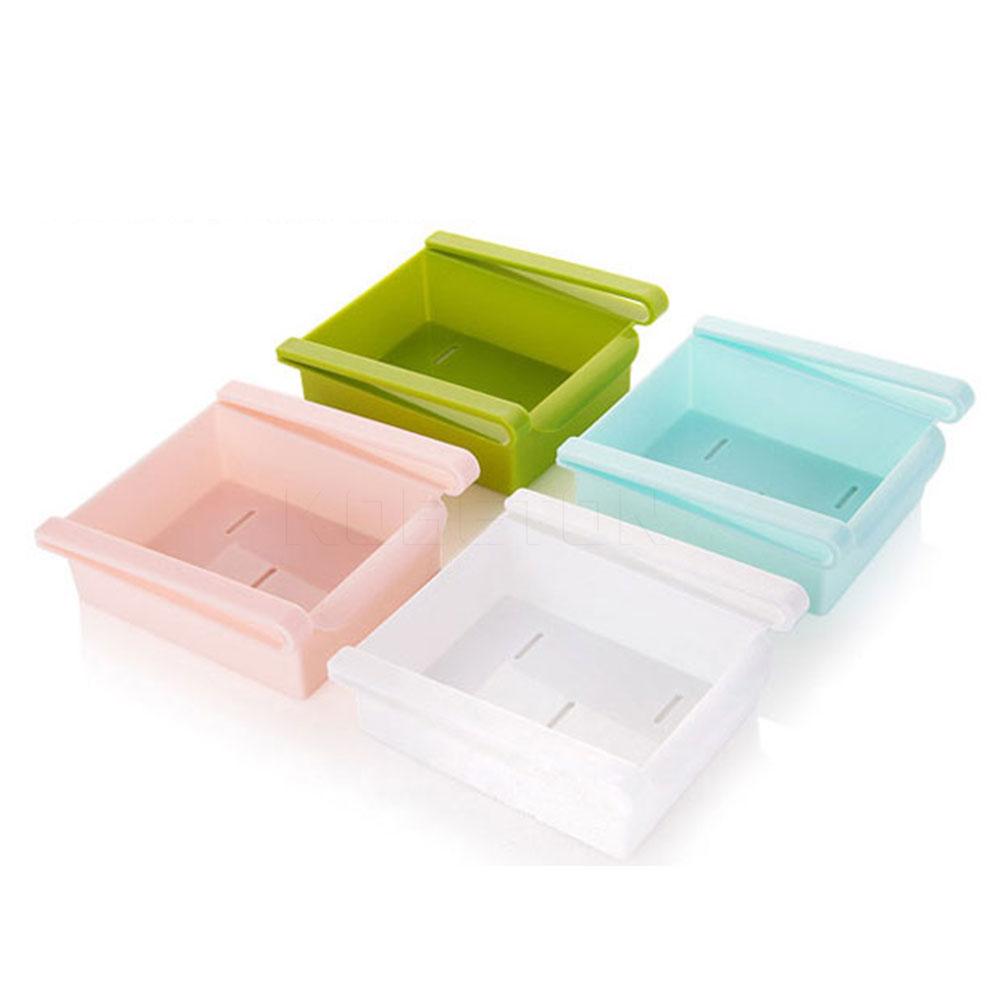 2016 4-color Hot Portable Slide Kitchen Fridge Freezer Space Saver Organizer Storage Rack Shelf Holde Drawer(China (Mainland))