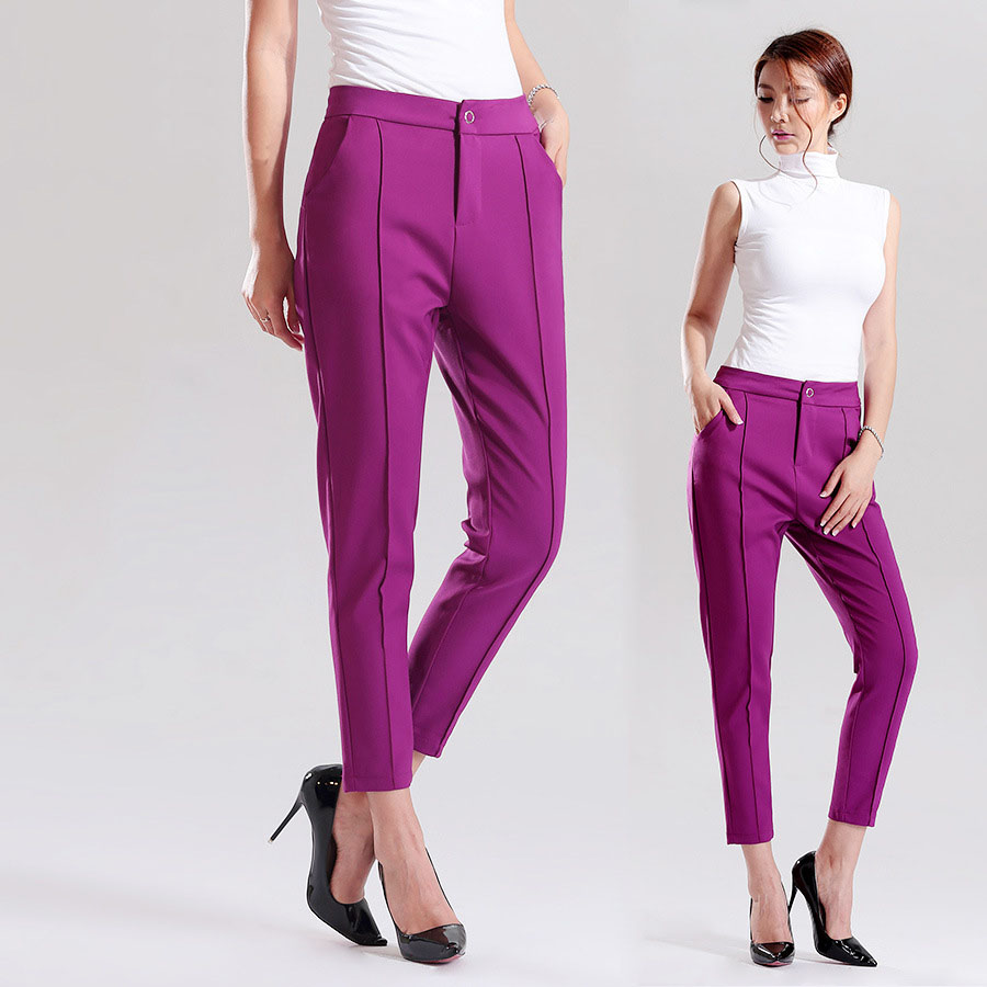 2015 New Arrival Women Trousers Skinny Spandex Office Lady Pants Woman candy color Elegant Legging(China (Mainland))