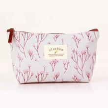 1Pc Vintage Flower Floral Pencil Pen Canvas bag Cosmetic Makeup Storage Pouch bag Case Purse Promotion