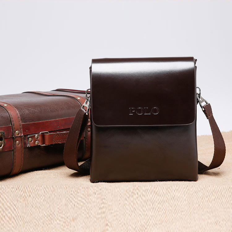 2015 new famous brand Male man crossbody men messenger bags high quality genuine leather bag fashion wax leather for man POLO(China (Mainland))