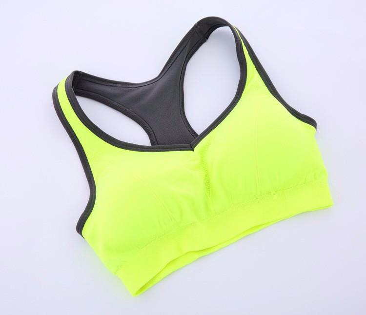 High Quality Wholesale 2015 New Spring Summer Women Seamless Bra Sports Bra Push Up Padded Running Bra Thin Tank Vest Top