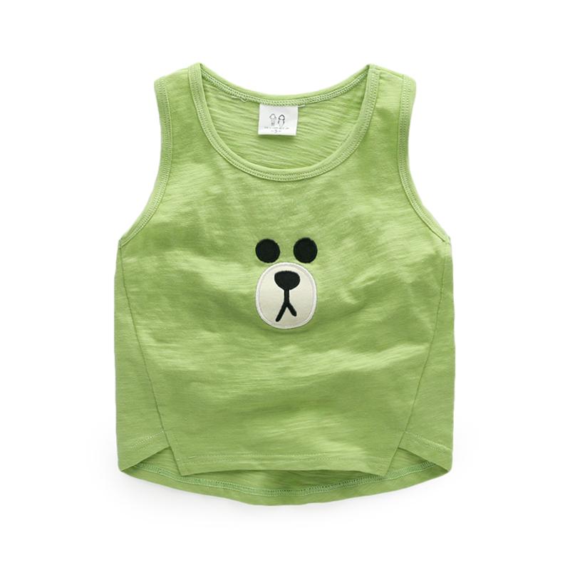 Summer child undershirt vest Solid Cotton Unisex baby 2-6 years summer dress Everything for children Clothing 17018(China (Mainland))