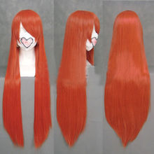Lolita Long Orange Straight Costume Christmas Party GINTAMA KAGURA Cosplay Wigs >>Party cosplays  heat resistant free shipping