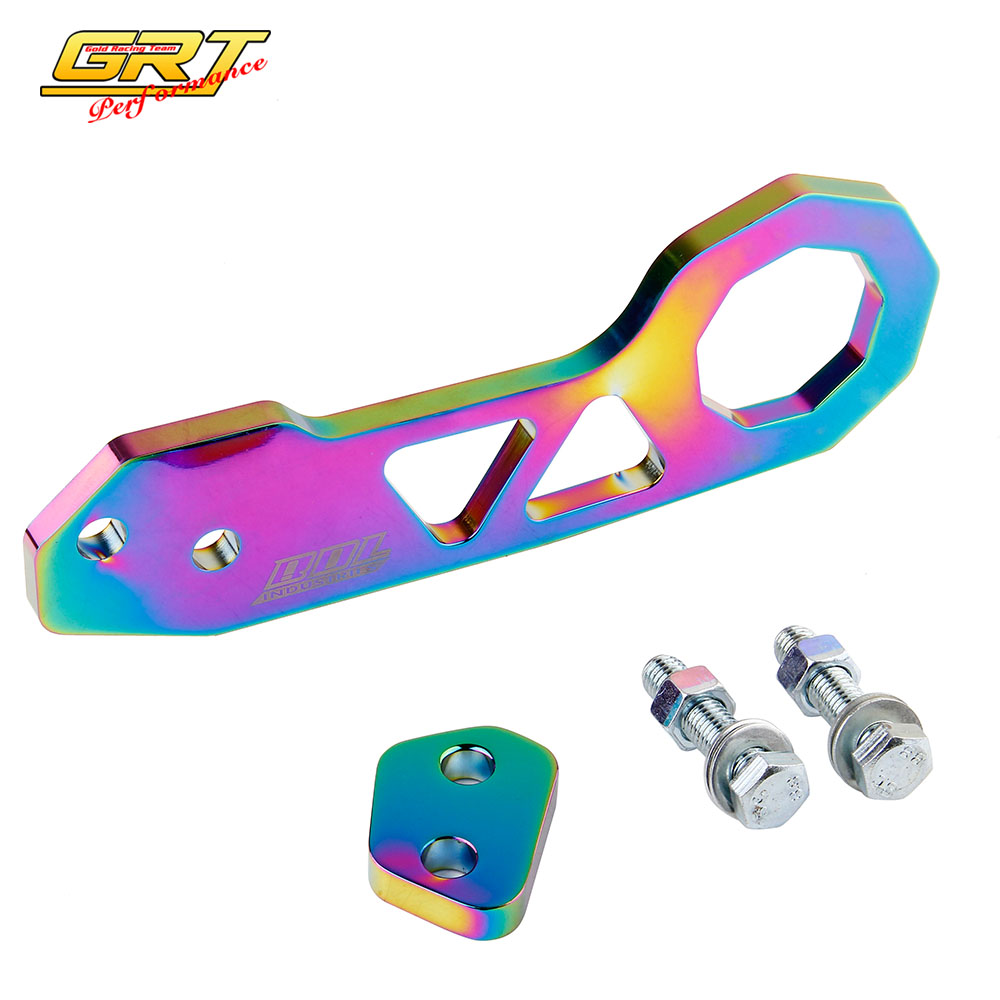 GRT - High Quantity NEO CHROME JDM Rear Tow Hook FIT FOR HONDA CIVIC Integra RSX(China (Mainland))