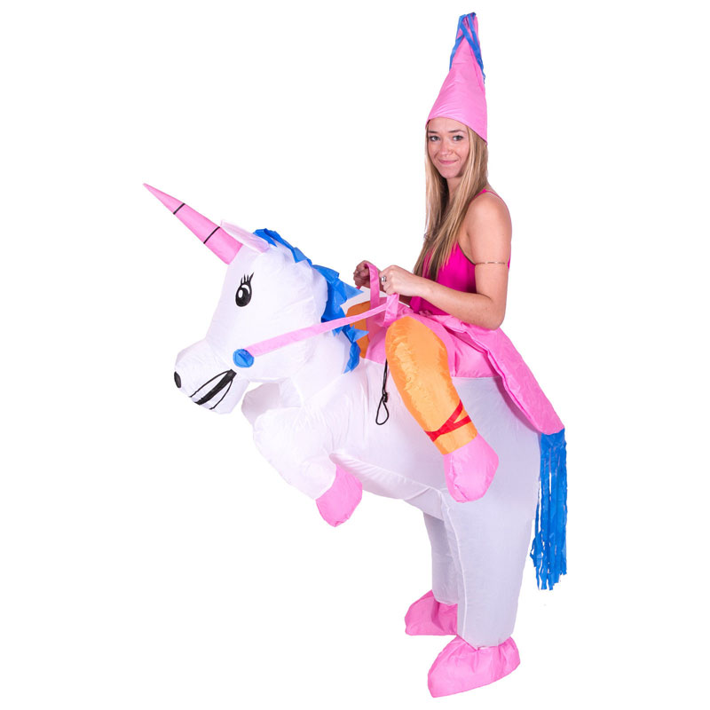 2016 Purim Halloween Inflatable Unicorn Costumes Kids Adults Inflatable Princess Pegasus Outfit Fancy Suit Party Fancy