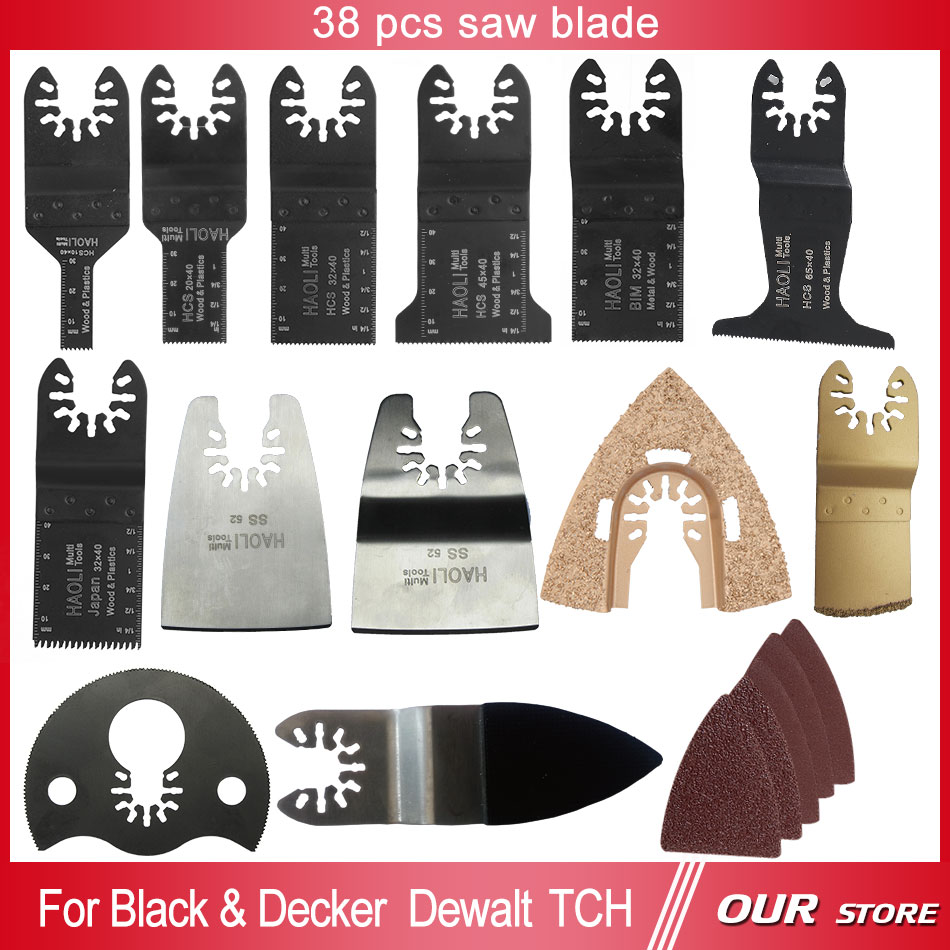 38 pcs oscillating tool saw blade accessories for multifunction electric tool as Fein power tool etc